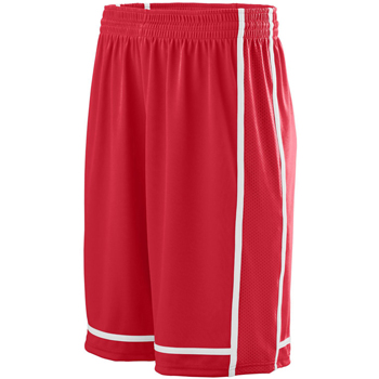 Adult Wicking Polyester Shorts with Mesh Inserts