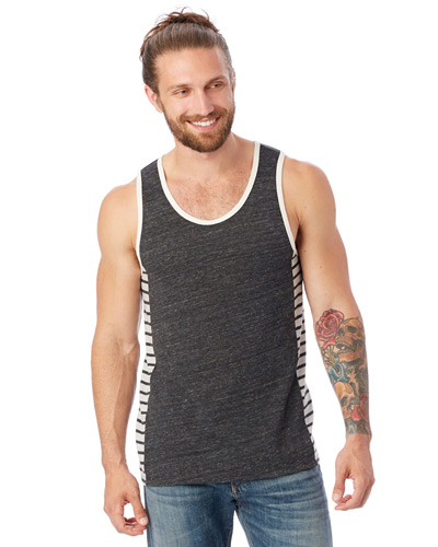 Marine Eco-Jersey Panel Tank Top