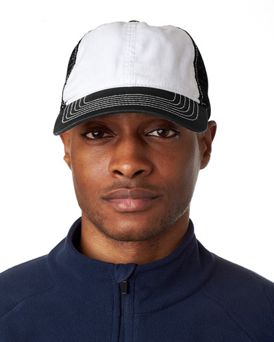 Adult Classic Cut Brushed Cotton Twill Unstructured Trucker Cap