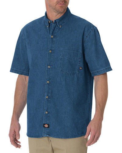 Men's Short-Sleeve Denim Shirt